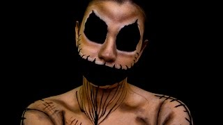 getlinkyoutube.com-OOGIE BOOGIE/BICHO PAPÃO - O ESTRANHO MUNDO DE JACK ✩ HALLOWEEN MAKEUP - Stephanie Beloto