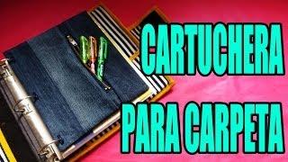 getlinkyoutube.com-DIY: Cartuchera para carpeta