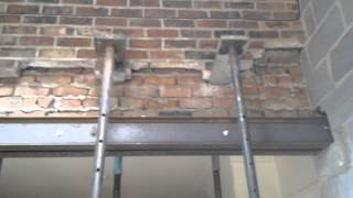 getlinkyoutube.com-How to put Steel RSJ Lintels into a Supporting Wall