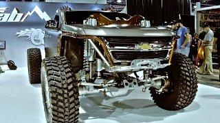 "getlinkyoutube.com-""Kymera"" Chop Top 2015 Chevy Colorado with CUMMINS Twin Turbo SEMA 2016"
