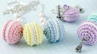 Вязаные сладости ♥ Пирожное Макарон крючком ♥ Вяжем амигуруми