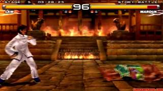 getlinkyoutube.com-Tekken 5 - Story Battle - Law Playthrough