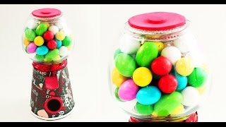 getlinkyoutube.com-Functional / Working GUMBALL MACHINE - DIY - simplekidscrafts