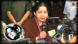 getlinkyoutube.com-CM Jayalalitha and Karunanidhi pay homage to Aachi Manorama | Death Video