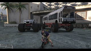 getlinkyoutube.com-GTA 5 PC MODS - Monster Bus & Adder w/Pocket Bike & Challenge Course