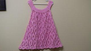 getlinkyoutube.com-Vestido Crochet para niña de 3 a 4 años