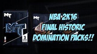 getlinkyoutube.com-NBA 2K16 Final HISTORIC Domination PACKS!!