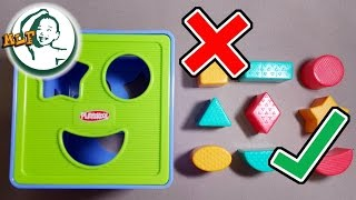 getlinkyoutube.com-learn shapes for kids with Shape Sorter Cognitive and Matching Plastic Toy | shapes compilation |