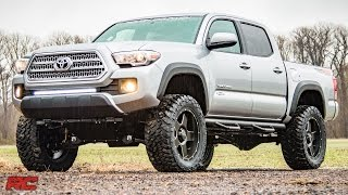 getlinkyoutube.com-2016 Toyota Tacoma 4-inch Suspension Lift Kit by Rough Country