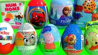 getlinkyoutube.com-Ovos de Páscoa Kinder Zootopia NUM NOMS Peppa Pig Patrulha Canina Zootrópolis Disney FROZEN Shopkins