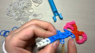 getlinkyoutube.com-How to make rainbowloom EXO logo-Easy-