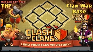 getlinkyoutube.com-Clash Of Clans l Best TH7 Trophy & Clan War Base With Air Sweeper