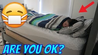 The FLU or FOOD POISONING!? 😷| Brock and Boston Twins width=