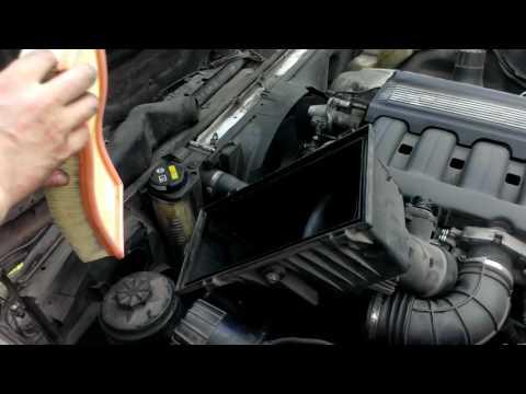 Расположение в BMW 3 воздушного фильтра