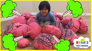 getlinkyoutube.com-GIANT WHOOPEE CUSHION FART Challenge! Toys For Kids! Family Fun Children Activities Ryan ToysReview