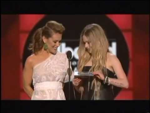 Avril Lavigne & Alyssa Milano presenting Top Digital Song at Billboard Music Awards 2013