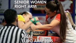getlinkyoutube.com-European Armwrestling Championship 2015 2015- Senior WOMEN FINAL -2015 -RIGHT ARM  EURO ARM
