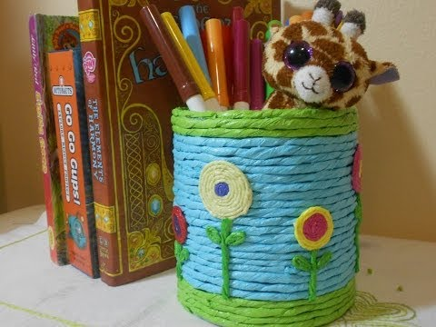 How to Make Recycle Pen-Pencil Holder with Used Can