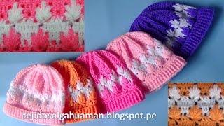 getlinkyoutube.com-gorro tejido a crochet para todas las edades paso a paso