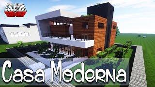 getlinkyoutube.com-Como hacer una Casa Moderna en Minecraft