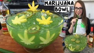getlinkyoutube.com-Marijuana Jungle Juice Bowl with Banana Leaf Straws - Tipsy Bartender