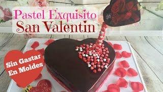 getlinkyoutube.com-Pastel Corazón Con Glaseado De Chocolate 14 De Febrero