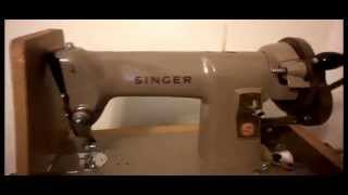 vintage singer 185k heavy duty hand crank sewing machine for fabrics & leather