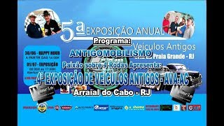 5ª Exposição de Veículos em Arraial do Cabo-RJ