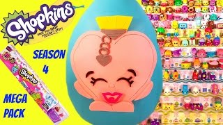 getlinkyoutube.com-SHOPKINS Limited Edition SALLY SCENT Play Doh Surprise Egg | MEGA PACK Opening Sweetheart Collection