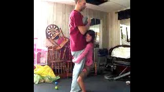 getlinkyoutube.com-WORLDS STRONGEST GIRL 8 years old lifts 177 lb dad