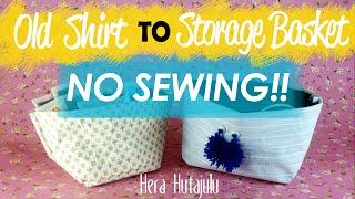 getlinkyoutube.com-EASY DIY : OLD TSHIRT TO STORAGE BASKET (No Sewing) | Hera Hutajulu