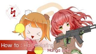 getlinkyoutube.com-[Clip Studio Paint/Manga Studio] How to : Hair coloring [Eng ver.]