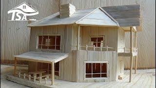 getlinkyoutube.com-How to make a wooden model house 2016