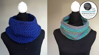 getlinkyoutube.com-Crochet Cowl Tutorial - Easy