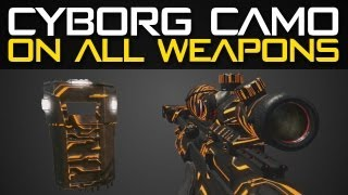 getlinkyoutube.com-Black Ops 2 CYBORG Camo on All Weapons - Cyborg Camo