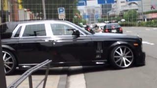 getlinkyoutube.com-ロールスロイスがガリっと... 車高が低すぎて思い切り地面にこするロールスロイス ファントム [HD] Scratches on the Rolls-Royce Moment.