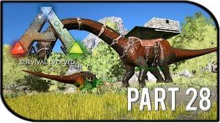 "getlinkyoutube.com-ARK: Survival Evolved Gameplay Part 28 - ""BRONTOSAURUS BASE BUILDING!"" (Season 2)"