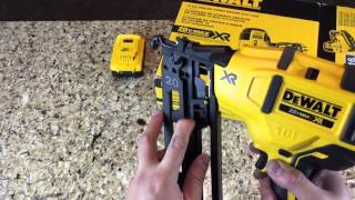 getlinkyoutube.com-Dewalt Brushless 20V Max 16 Gauge Nailer DCN660