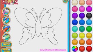 getlinkyoutube.com-Butterfly Coloring Games