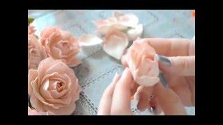 getlinkyoutube.com-Нежная роза из фоамирана мастер класс / Foam tutorial