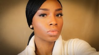 getlinkyoutube.com-Flawless Foundation Routine   Ponytail with Swoop Bang