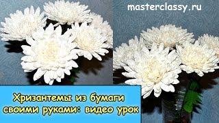 Amazing paper flowers tutorial. Цветы из бумаги. Хризантемы из бумаги своими руками: видео урок