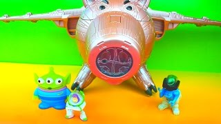 Toy Story 3 Electronic Porkchop Spaceship vs Buzz Lightyear Evil Dr. Porkchop Pig