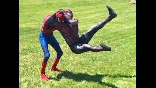 "getlinkyoutube.com-Spider-Men, Deadpool, & Evan Prout Destroy ""Stone Cold"" Spidey"