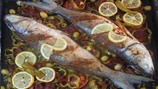 getlinkyoutube.com-poisson avec légumes au four / طريقة تحضير السمك مع الخضر في الفرن
