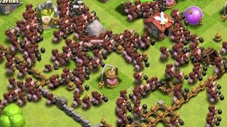 getlinkyoutube.com-Clash of Clans - 300 Hog Rider Attacks! Max Level 5 Hogs! (Mass Gameplay)