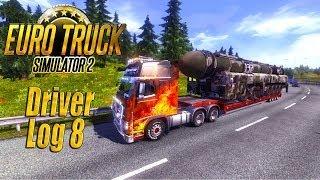 getlinkyoutube.com-Euro Truck Simulator 2: Driver Log 8 - 750HP Volvo Pullin' 73 Tons!
