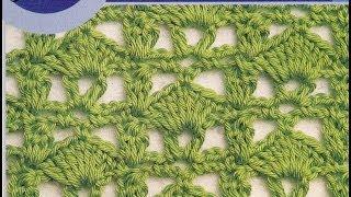 Como tejer puntos calados a crochet Manual de puntos