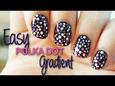 Easy Dot Gradient Nails | TotallyCoolNails
