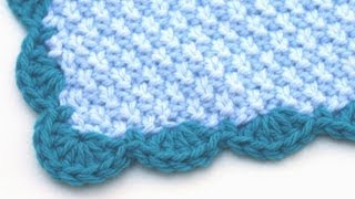 getlinkyoutube.com-Crochet for Knitters - Scalloped Edge